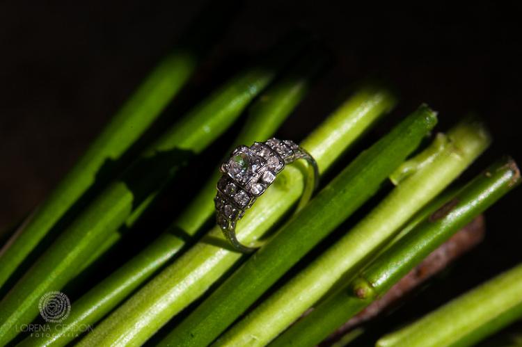 Anillo de compromiso - Fotografía de boda