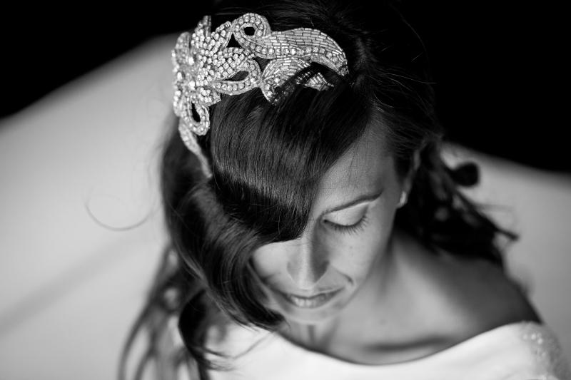 Tocado Novia - Fotografía de boda