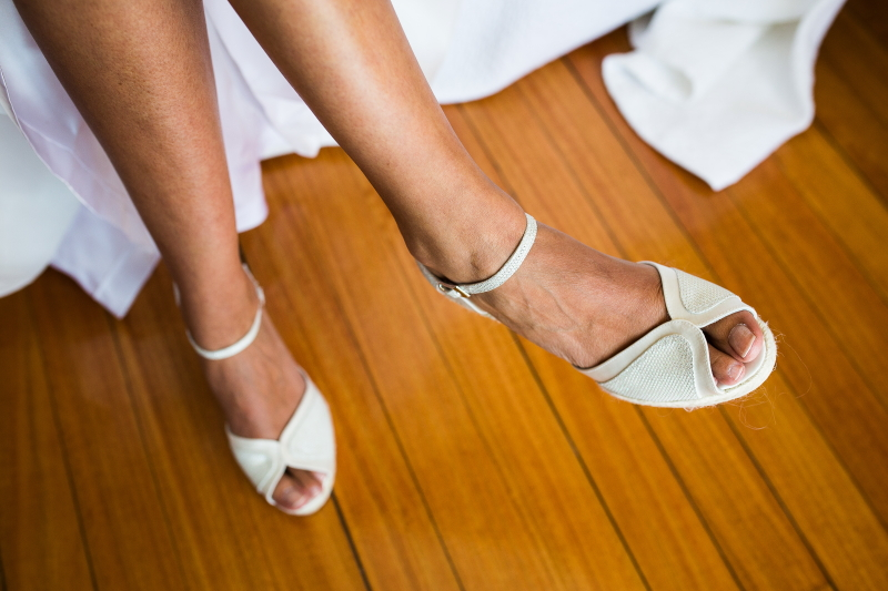 Zapatos novia - Fotografía de boda