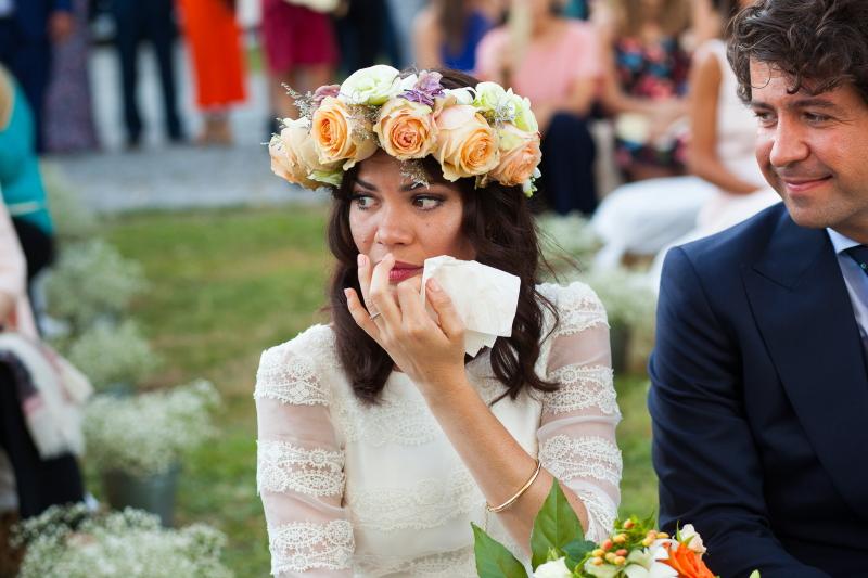 Novia y Novio en la ceremonia de su boda