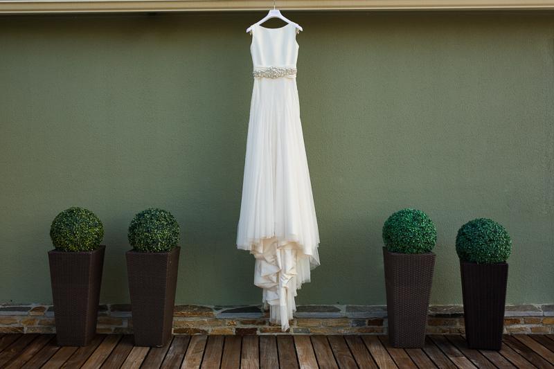 Fotografia de boda en Santiago de Compostela vestido de novia