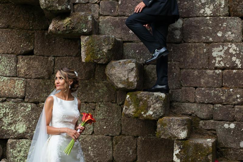 Historia de una boda en Castillo de Soutomaior donde Estibaliz y Fran se dieron el si quiero