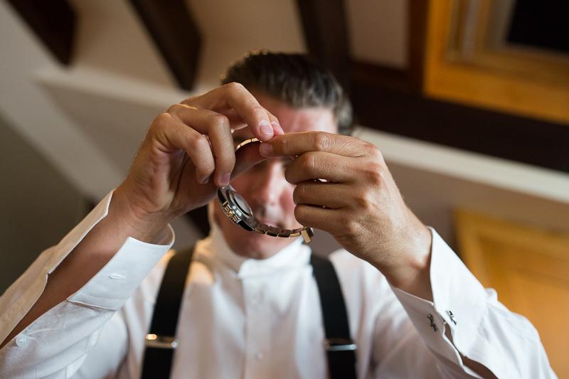Fotografia de boda Pazo el Castriño novio con preparativos