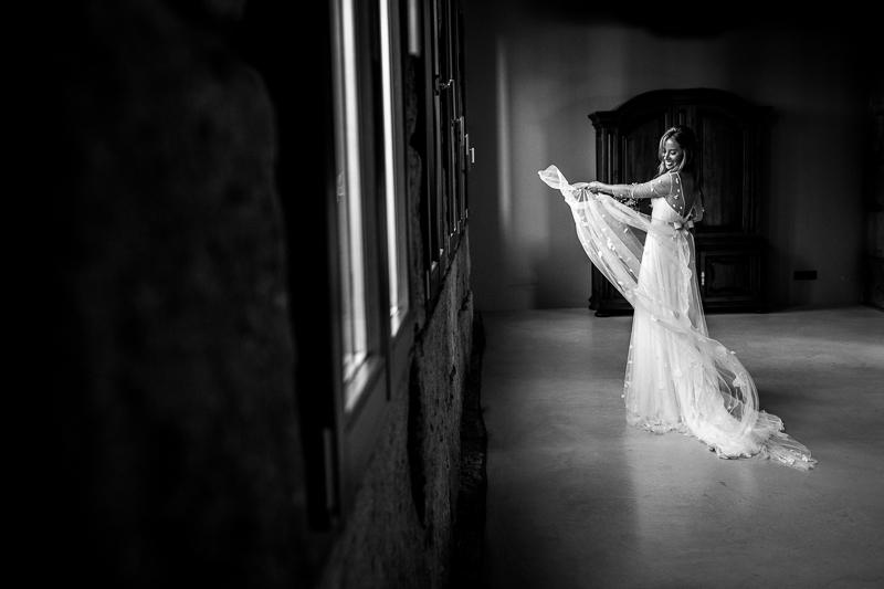Fotografia de boda novia en el Pazo el Castriño