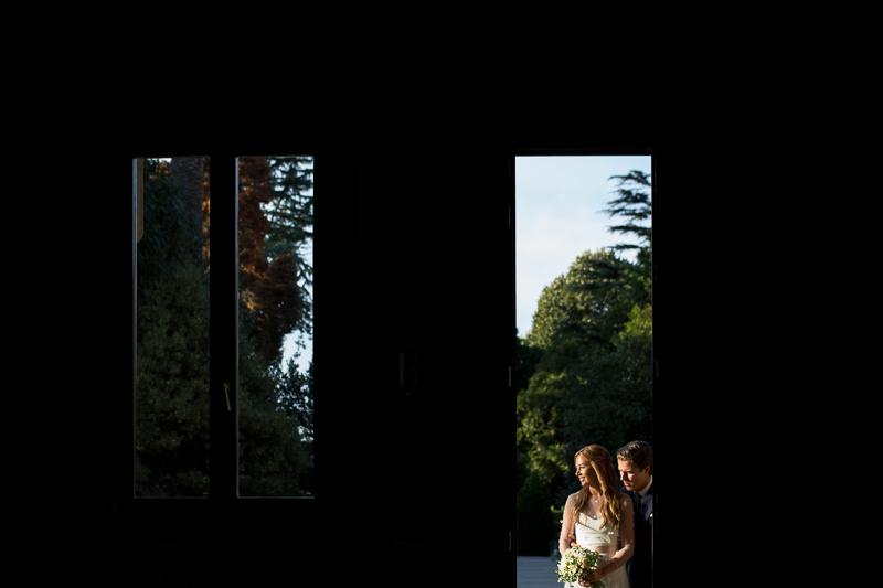 Fotografia de boda sesión de pareja de novios en el Pazo el Castriño