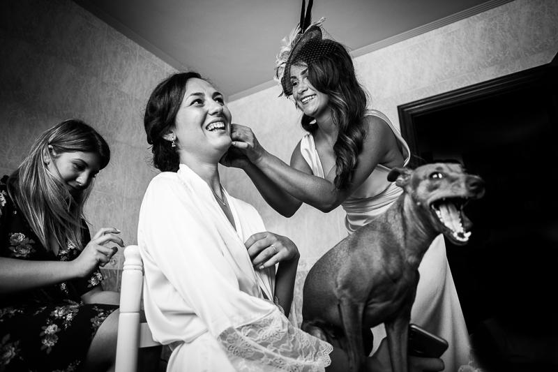 Fotografia de boda Pazo Torre de Xunqueiras preparativos novia