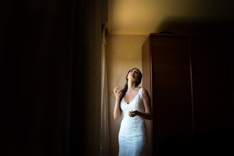 Fotografía de Boda Pazo Torre de Xunqueiras novia en los preparativos