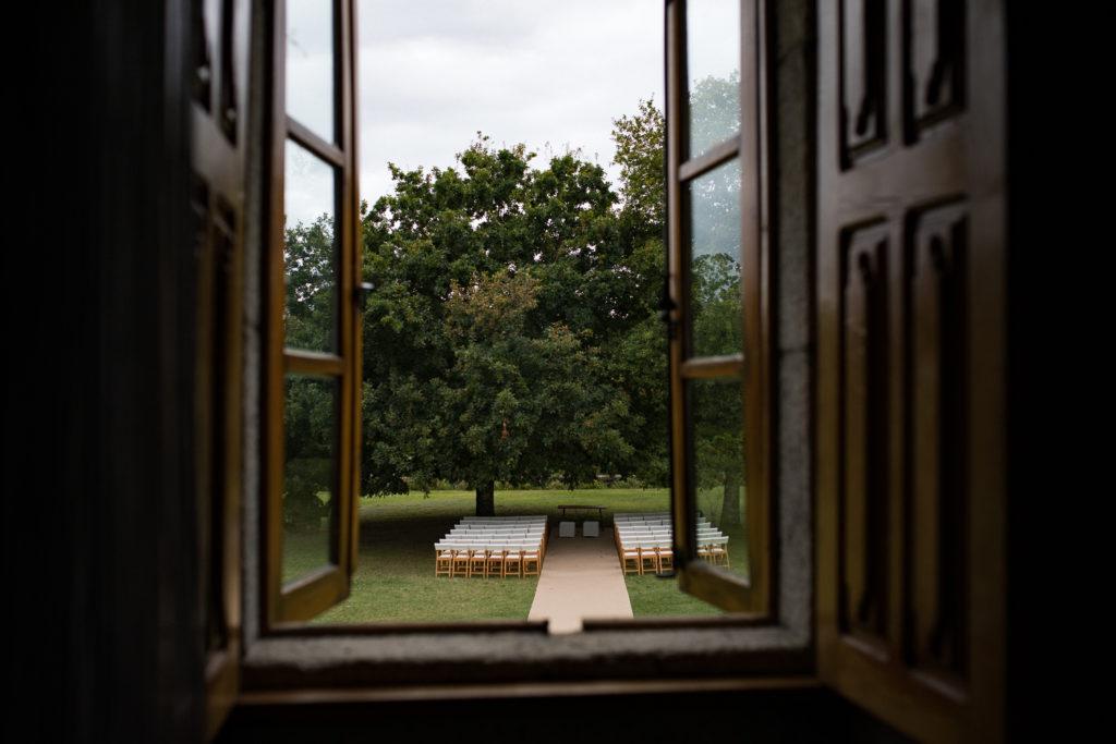 Fotografía de boda Pazo da Touza detalle ceremonia civil
