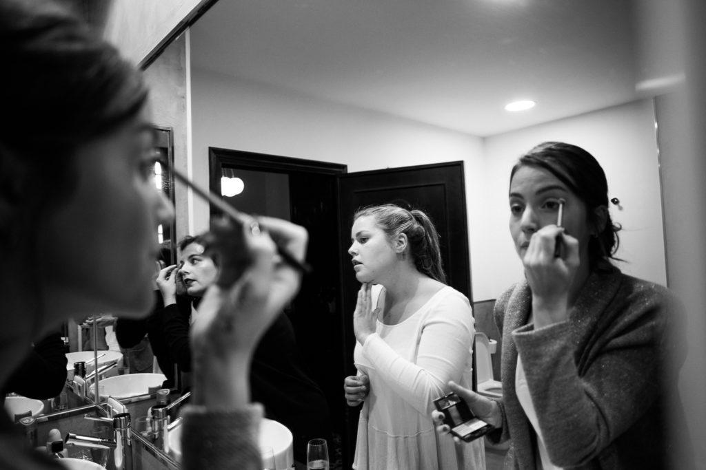 Fotografía de boda Pazo da Touza maquillaje novia