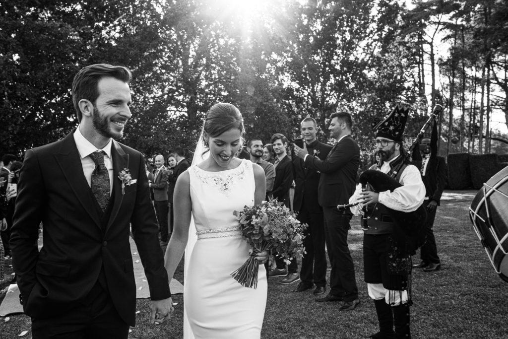 Fotografía de boda Pazo da Touza gaiteiros durante la ceremonia