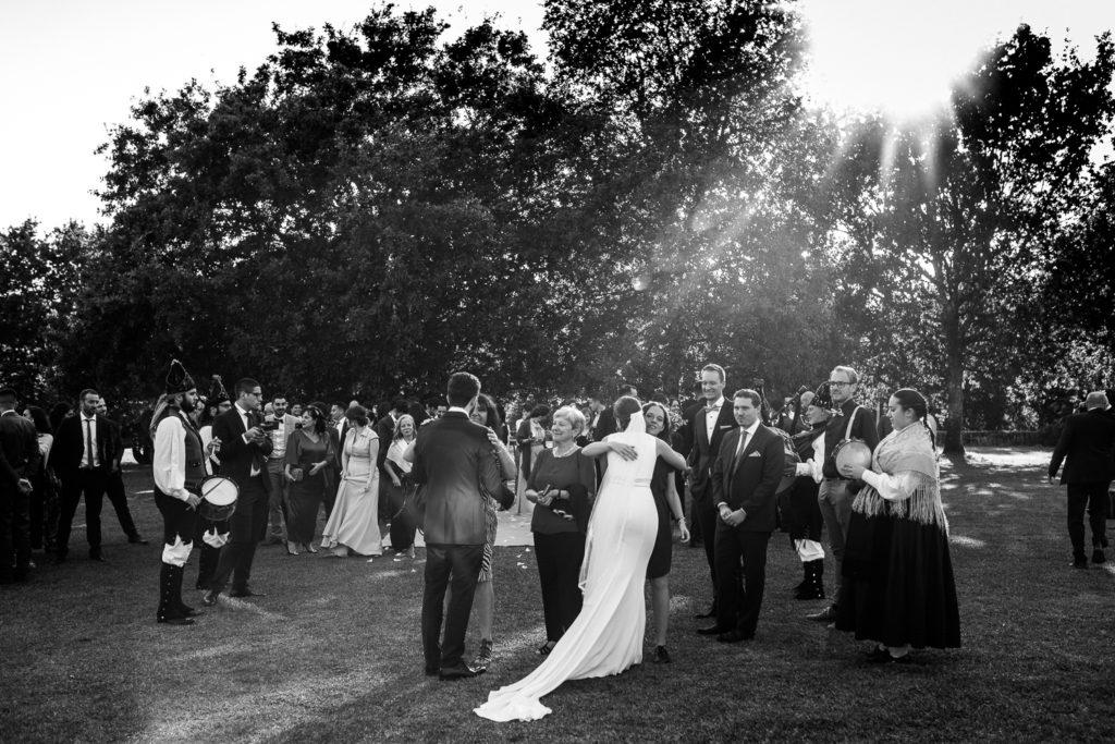 Fotografía de boda Pazo da Touza salida de la ceremonia
