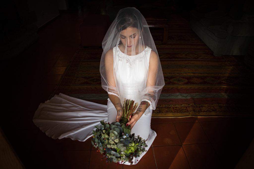 Fotografía de boda Pazo da Touza retrato novia