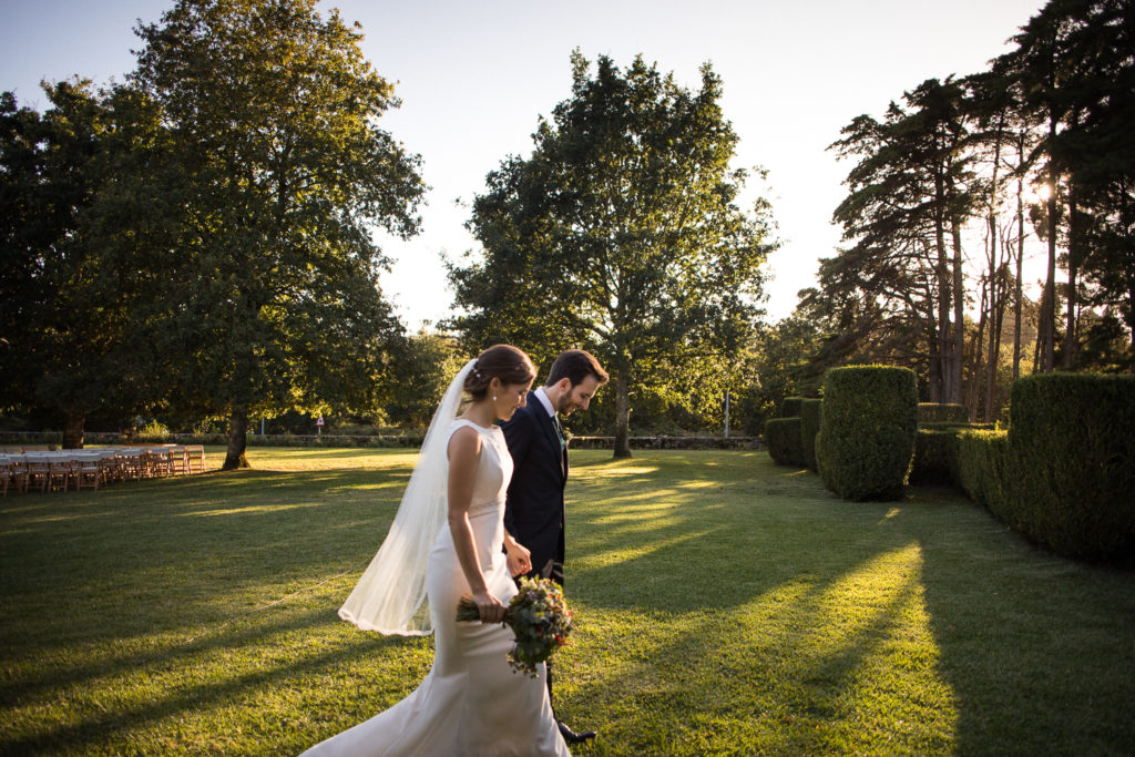 Fotografía de boda Pazo da Touza pareja de novios