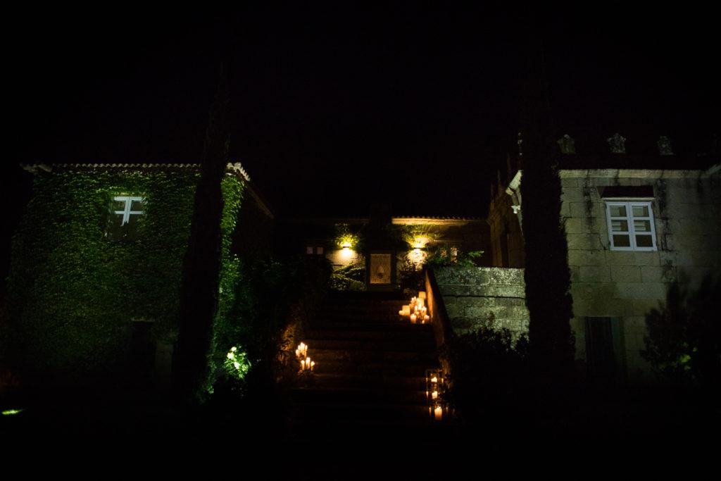 Fotografía de boda pazo de noche