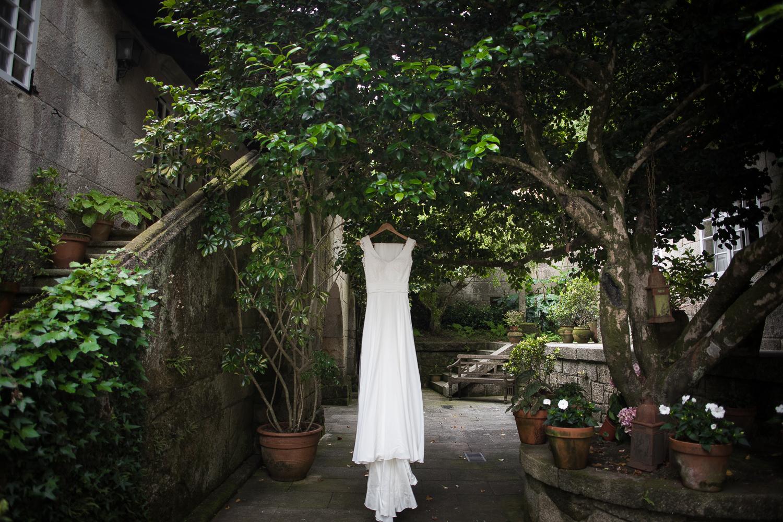 Fotografia de boda vestido de novia
