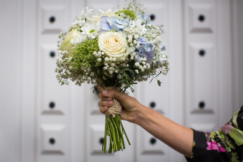 Fotografia de boda ramo novia