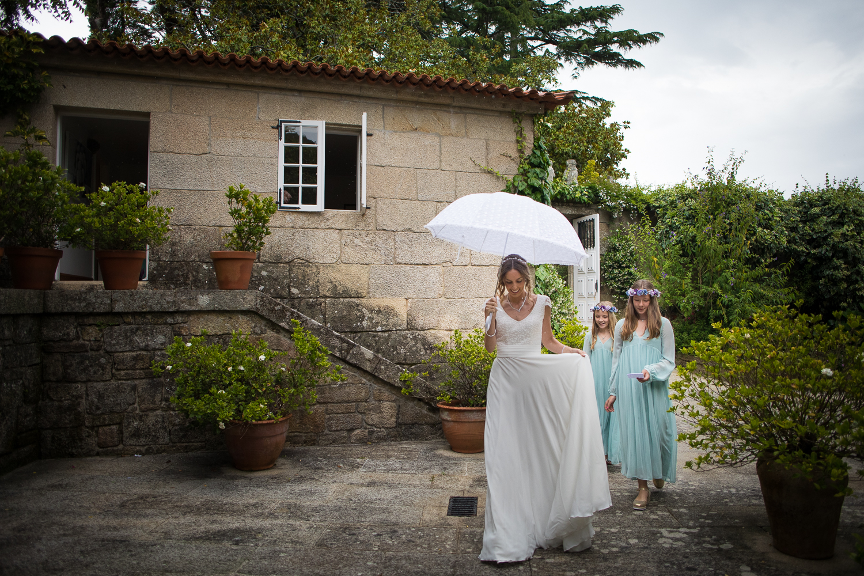 fotografia de boda novia con damas de honor