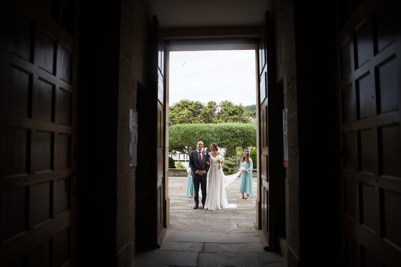 Fotografia de boda novia y padrino