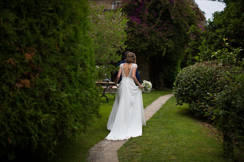 Fotografia de boda novia de espaldas