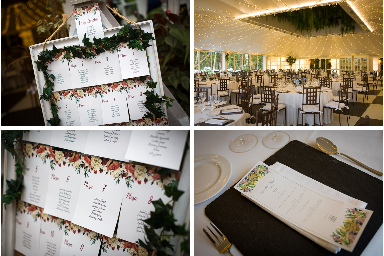 Fotografía de boda detalles de decoración mesas