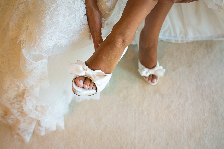 Fotografía de boda zapatos de novia