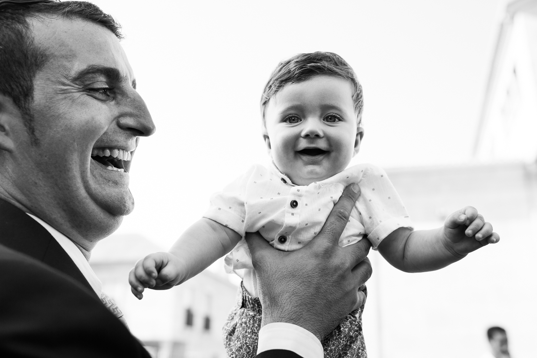 Fotografía de boda niño con padre