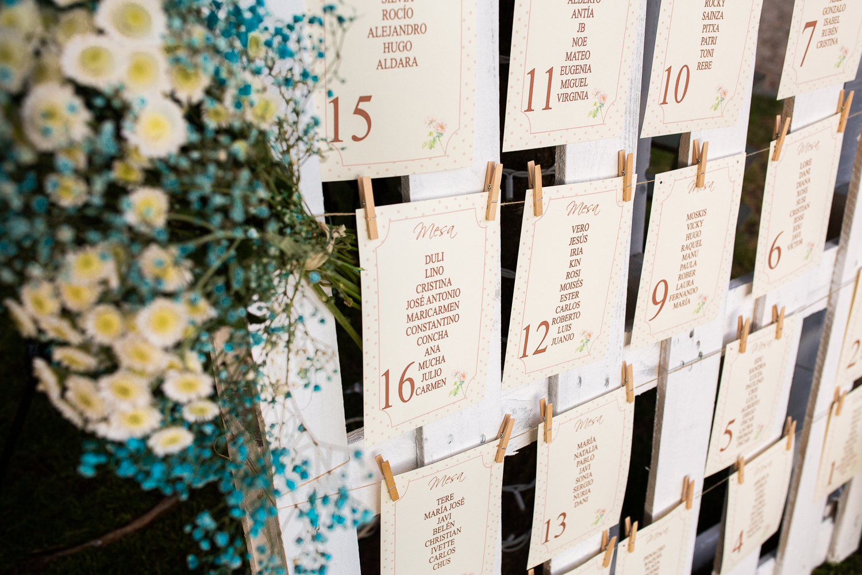 Fotografía de boda detalle meseros