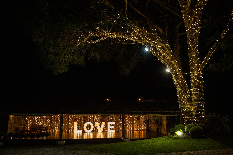 Fotografía de boda pazo con luces