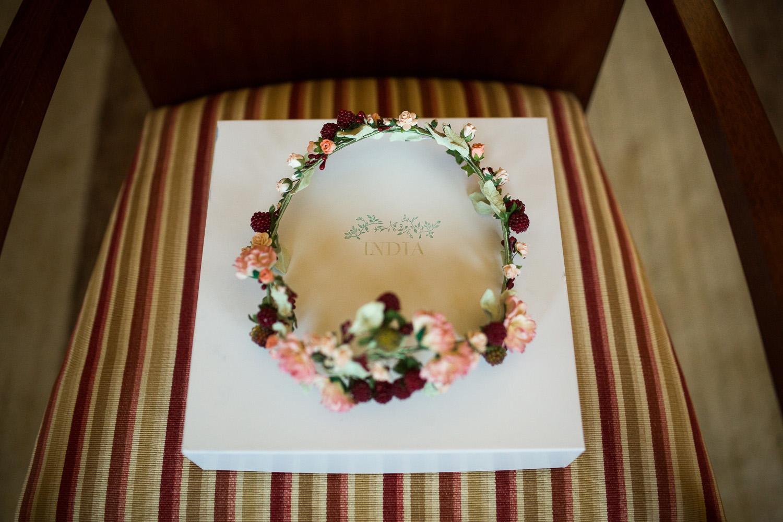 Fotografia de boda tocado novia