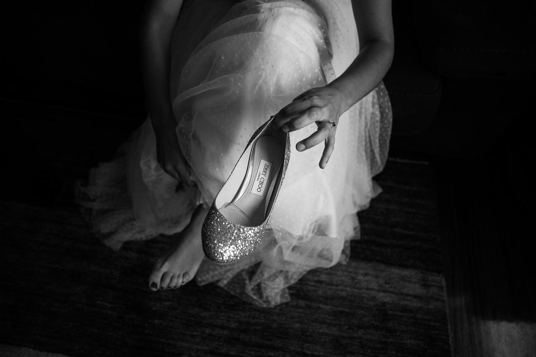Fotografia de boda zapatos de novia