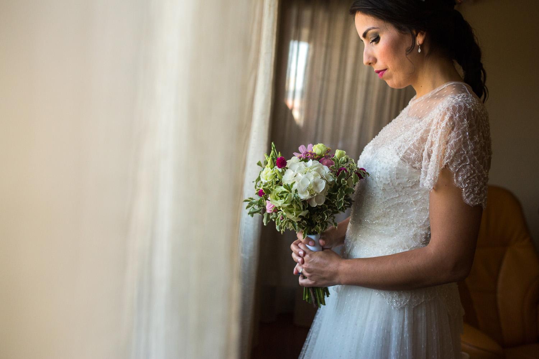 Fotografia de boda novia con su ramo