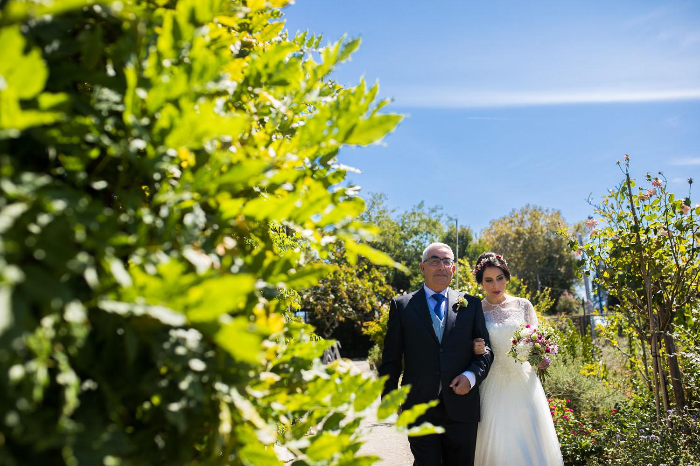 Fotografia de boda novia con el padrino