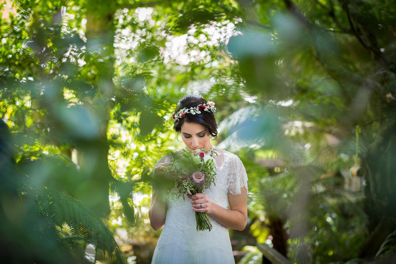 Fotografia de boda novia con ramo