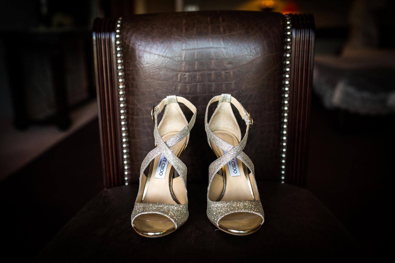 Fotografia de boda zapatos novia
