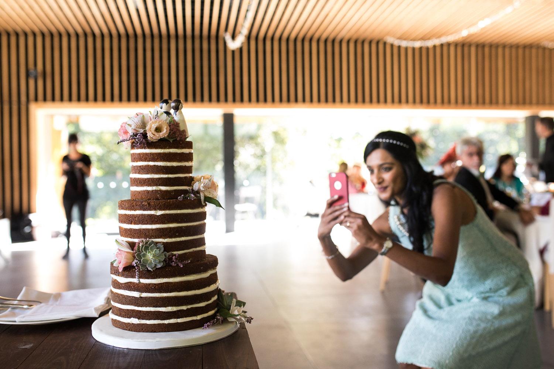Fotografia de boda detalle de tarta de boda
